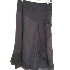 Vintage Cotton gypsy midi skirt